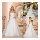 Nobel Applique beaded strapless wedding dress whole sale china