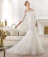 sexy long sleeves mermaid elie saab wedding dresses prices