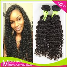 short hair brazilian curly weave