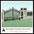 estilo antigo e moderno estilo de segurança top único anel de ferro portões e cercas