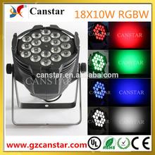 Guangzhou Canstar led flat par light 18*10w rgbw party lighting