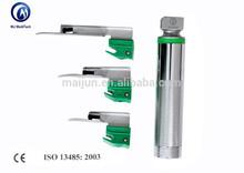 Disposable Macintosh and Miller fiber optic laryngoscopy instruments