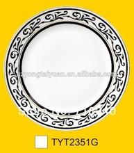 ceramic decorate dinner plate with custom design