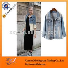 Wholesale Fashion Plain Fastener Women's Denim Jacket