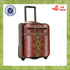 new design hot sale two wheels PU leather luggage