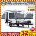 Personalizado feito açoinoxidável off-road mini caretta caravana