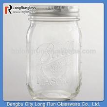LongRun 16oz Ball Pint Mason Jars with Metal Lid Hot Sale Glass Glass with OEM Design