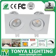 LED Cree COB Downlight 15w CE ROHS cob rectangular led downlight accessories