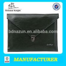simple small black A4 leather portfolio bag wholesale china alibaba