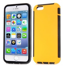 Detachable 2 in 1 Full Protective Rubber Coated Case Phone Cases Hybrid case for iPhone 6 Plus