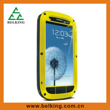 High quality dirtproof f waterproof metal mobile phone case for Samsung galaxy S3 aluminum case