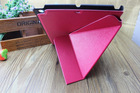 with sleeping function fashionable flip stand with M line folder PU leather tablet case for iPad 2/3/4