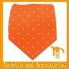 Orange necktie with white dot used silk ties