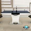 2014 madeira e vidro mesa de jantar expansível mesa de jantar