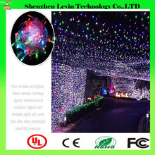 Factory CE Various Colors Holiday 10M 100leds Decoration String LED Christmas Lights