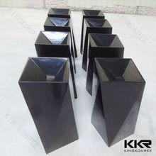 freestanding resin stone/poly stone/polymarble black bathroom sinks