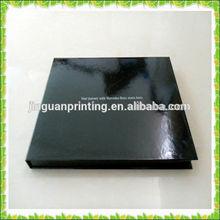 Gloss black disply shiny rigid paper box custom log printed make in guangzhou