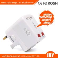 Socket Plug Camera Motion Detection Universal Adapter Hidden Camera US/ UK/ AU /EU Power Adapter wall socket hidden camera