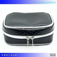 Fashion large capacity soft pu leather cosmetic bag toilet bag