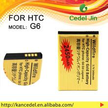li polymer battery 3.7v gold Battery For HTC Legend G6 A6363 Wildfire G8 A3333