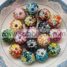 Search 14*16MM Acrylic Plastic Rhinestone Spacer Beads