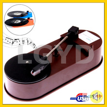 USB Mini Phonograph / Turntable / Vinyl Turntables Audio Player, Support Turntable Convert LP Record to MP3 Function (Brown)