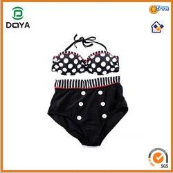 2014 new design high waist bikini for women