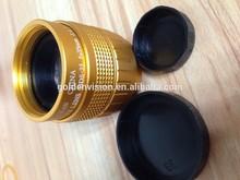 "Gold color C Mount 35mm F/1.7 2/3"" CCTV Lens Body for Interchangeable Lens Digital Camera"