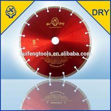 dry cutting segmented diamond circular blade saw for concrete