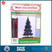 Christmas tree plastic scene creating wall decoration Christmas wall cover