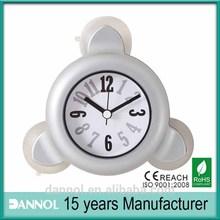 4inch guangzhou plastic bathroom suction clock / waterproof bathroom clock / bathroom clock