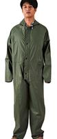 CE EN388 0.25mm-0.55mm PVC Polyester Rain Suit 100% Water Proof Rain Coverall