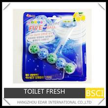 7.5g*5 balls toilet air freshener(4% fragrance)