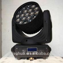 led zoom moving head light rgbw 19x15w