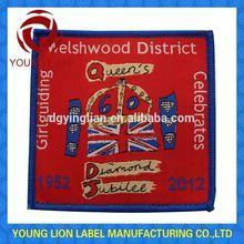 military eagle logo embroidery badge