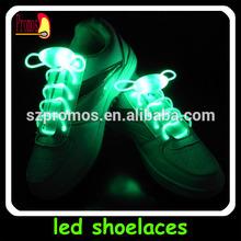 2014 high quality led fiber optic flash shoelac/ flashing led shoelace colorful/ neon charming LED shoelace manufacture
