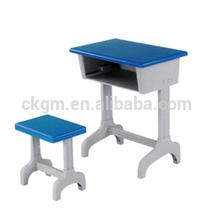 plastic desk and chair with singel legs, used kids school furniture
