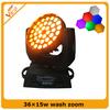 Charming Effect 36*15W RGBAW +UV LED Moving Head Wash Light Dj Lighting Zoom Light