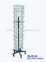 Metal book /CD/DVD/post cards display rack /spinner rack HSX-057