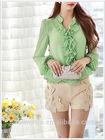 dabuwawa neck design of blouse models office blouse chiffon blouse 2015