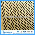 Qualifié perforé feuille de laiton / décoratif perforé feuille métal panneaux / perforé feuille d'acier inoxydable