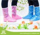 color customizable pvc rain shoes cover,long version shoes cover