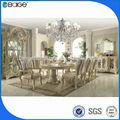 Venda quente filipinas triângulo vidro mesa de jantar e cadeira dt-5800