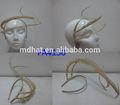 Especial design simples e elegante headband senhoras senhoras enfeites de cabelo da china, 100% natural pena headband