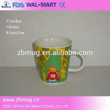 handmade white ceramic cup customised