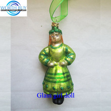 St Lucia girl glass Christmas ornament decorative items for christmas decoration wholesale