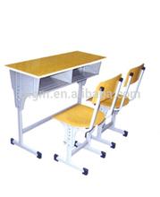 Morden wooden school/student desk and chair, teaching equipment factory