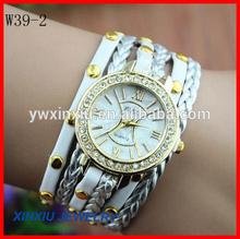 Wholesale stainless steel back geneva quartz watches