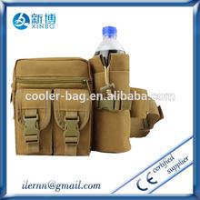 Brown multifunctional canvas military bag