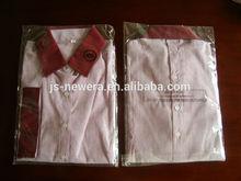 Lady's spandex shirt,slim fit,stripe design,Three-quarter length sleeves